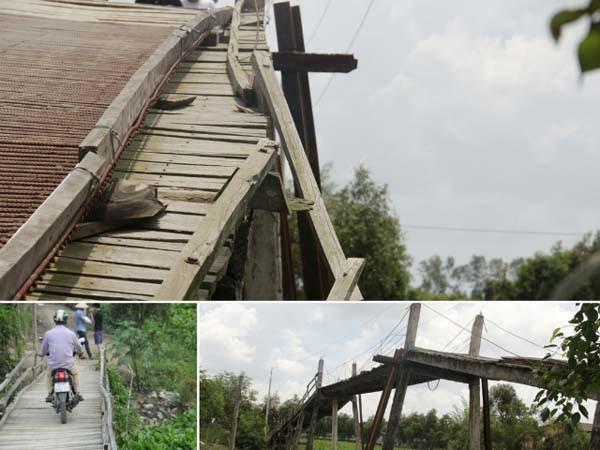 Bão đi qua, Tết về với những nhịp cầu trên quê nghèo Nam Bộ ảnh 1