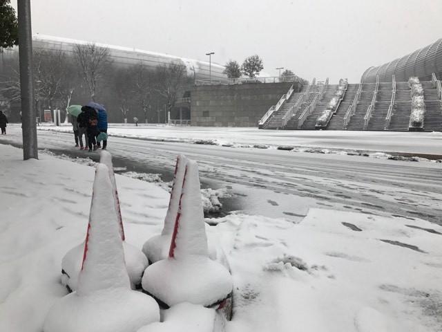 Tuyết phủ kín sân đấu trận chung kết U23 Việt Nam-U23 Uzbekistan ảnh 10