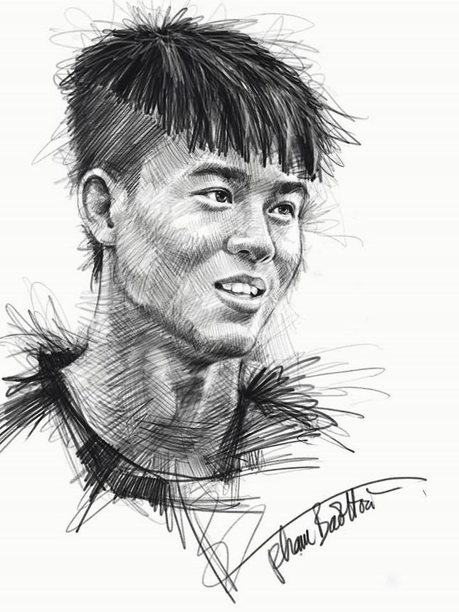 Tranh bút chì về chân dung HLV Park Hang-seo và U23 VN 'đốn tim' fan ảnh 2
