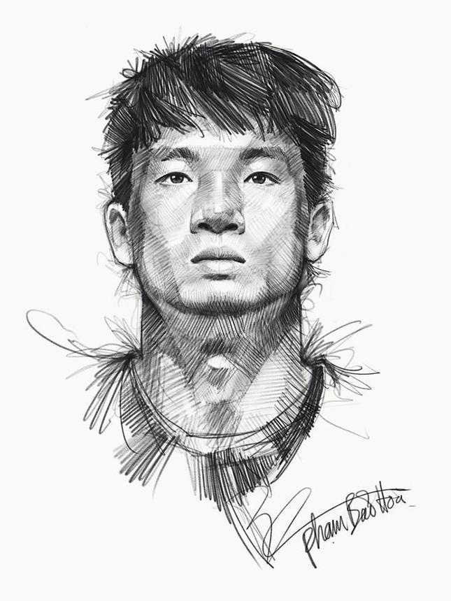 Tranh bút chì về chân dung HLV Park Hang-seo và U23 VN 'đốn tim' fan ảnh 5