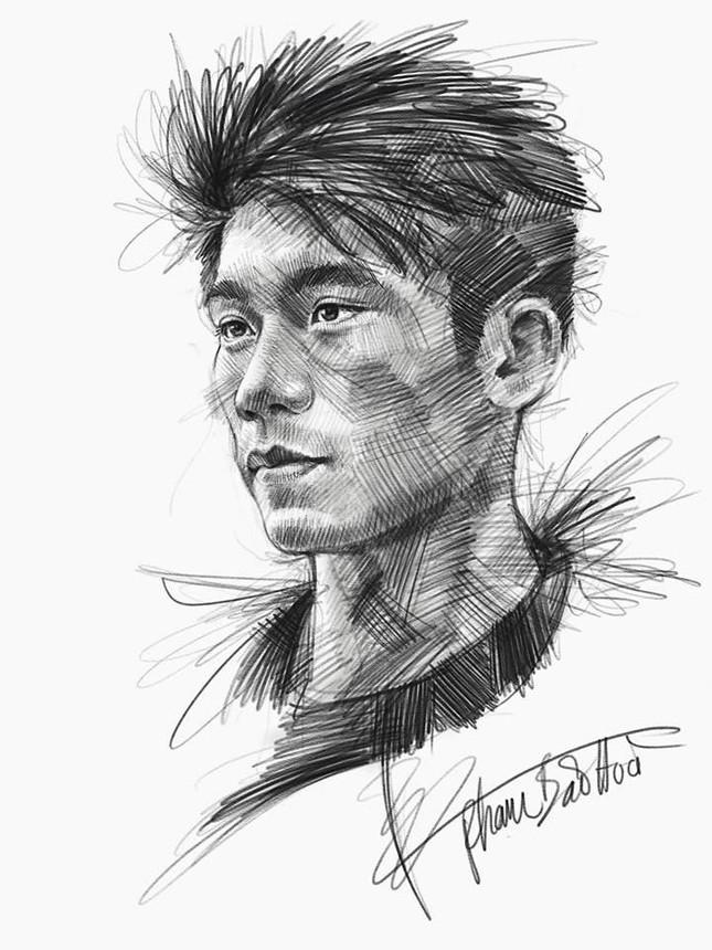Tranh bút chì về chân dung HLV Park Hang-seo và U23 VN 'đốn tim' fan ảnh 6