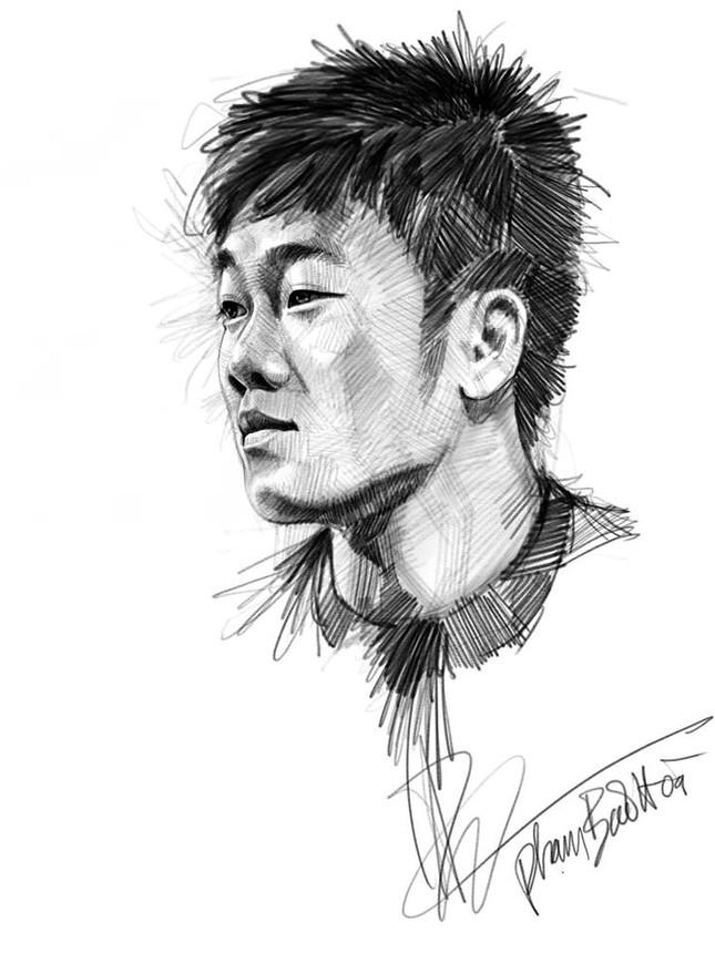 Tranh bút chì về chân dung HLV Park Hang-seo và U23 VN 'đốn tim' fan ảnh 7