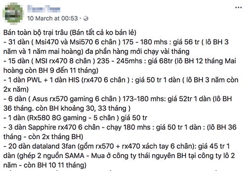 Dân 'cày' Bitcoin Việt Nam 'méo mặt' vì giá ảnh 1