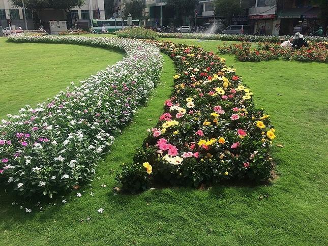 Bãi xe 'khủng' giờ thành công viên hoa ảnh 1
