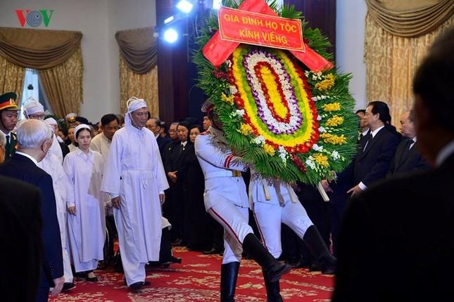 Toàn cảnh lễ viếng nguyên Thủ tướng Phan Văn Khải tại TPHCM và Hà Nội ảnh 2
