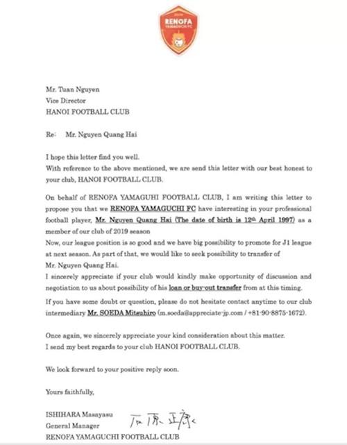 CLB Nhật Bản gửi đề nghị mua Quang Hải ảnh 1