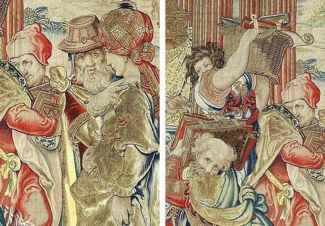 Tấm thảm thêu bằng chỉ vàng được tìm thấy sau gần 250 năm ảnh 1