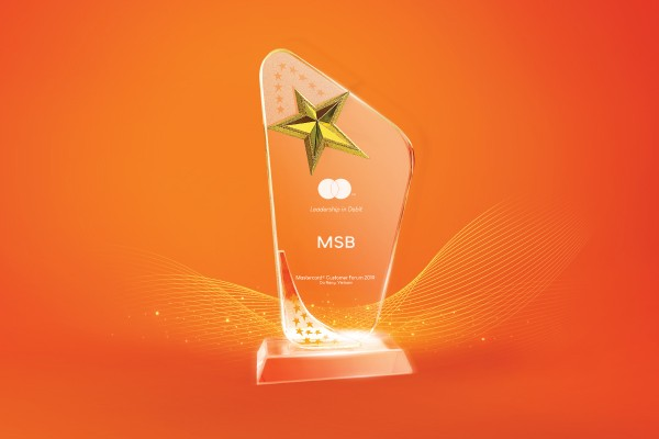 MSB top ngân hàng có thẻ thanh toán quốc tế Mastercard tốt nhất năm 2018 ảnh 1