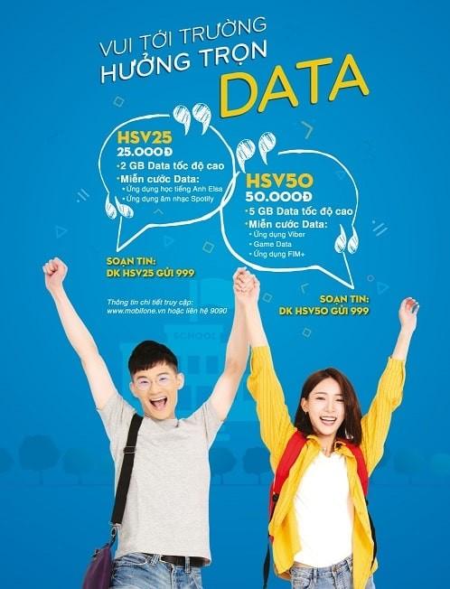 MobiFone triển khai gói cước mới HSV50, HSV25 dành cho học sinh sinh viên ảnh 1
