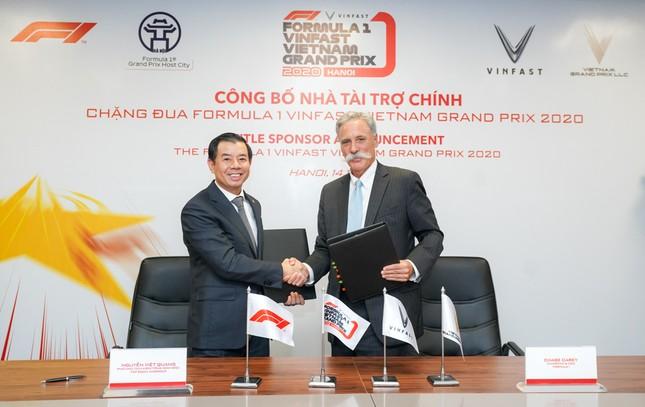 VinFast là nhà tài trợ chính của chặng đua Công thức 1 Việt Nam ảnh 1