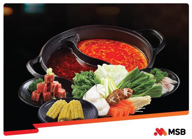 MSB hoàn đến 500 nghìn khi thưởng thức ẩm thực châu Á dịp 20/10 ảnh 1