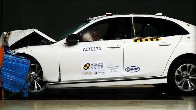 Hé lộ video xe Vinfast được kiểm định bởi Asean Ncap ảnh 1