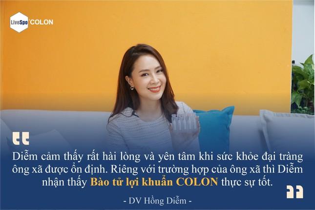 DV Hồng Diễm tiết lộ cách bảo vệ đại tràng cho ông xã bằng LiveSpo COLON ảnh 2