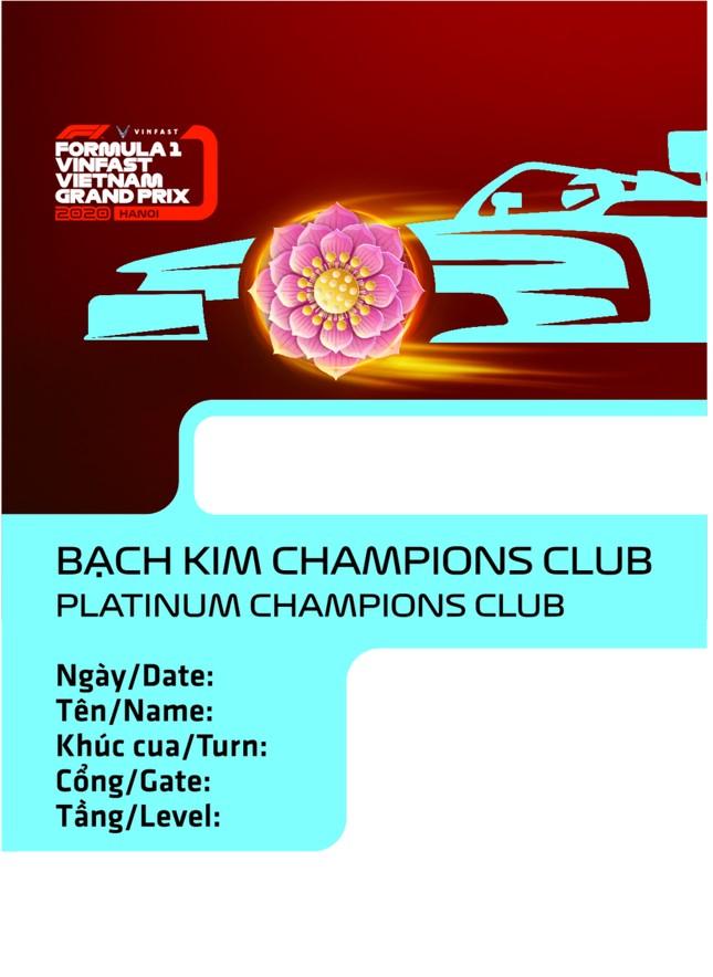 Lộ diện thiết kế vừa sang vừa chất của vé xem F1 tại Việt Nam ảnh 4
