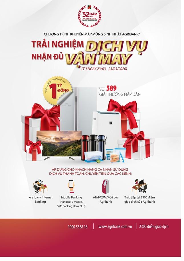 Khuyến mại mừng sinh nhật tại các điểm giao dịch Agribank Đồng Nai từ 23/3-23/5 ảnh 1