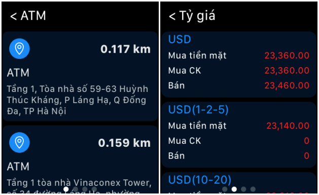 Trải nghiệm ngân hàng tương lai, ứng dụng BIDV trên Apple Watch ảnh 3