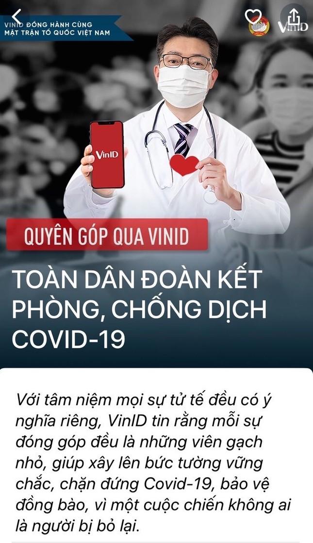 VinID trở thành kênh quyên góp ủng hộ phòng chống dịch COVID-19 ảnh 2