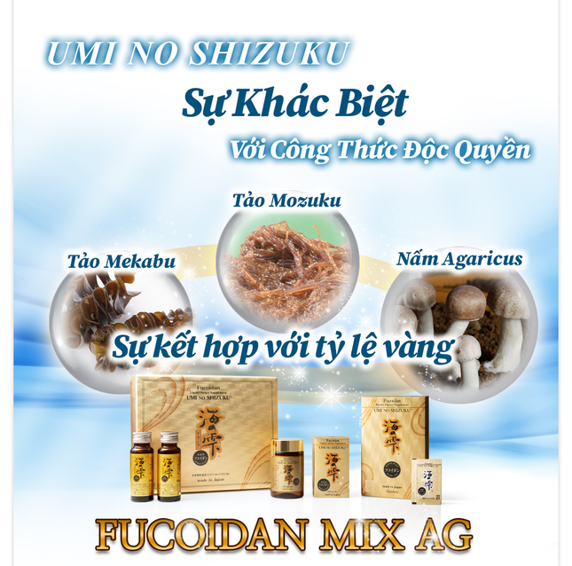 Khám phá những điều kỳ diệu chỉ có ở Fucoidan UMI NO SHIZUKU ảnh 1