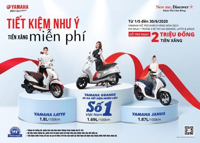 Yamaha tung ưu đãi khủng dịp Grande trở thành xe tay ga tiết kiệm xăng số 1 VN ảnh 1
