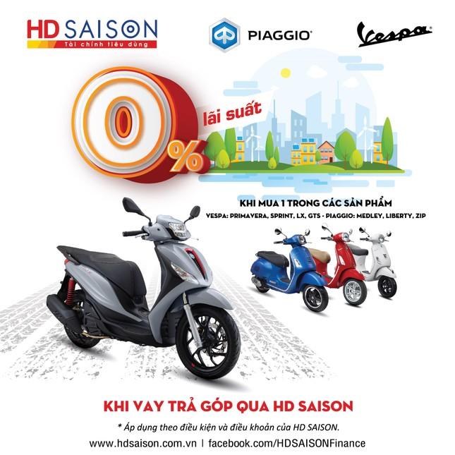 Piaggio và HD SAISON miễn lãi suất vay mua xe máy cho khách hàng ảnh 1