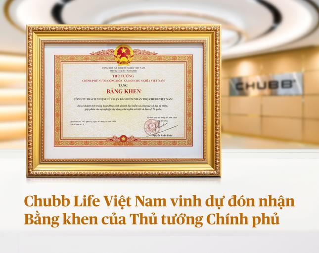 Chubb Life Việt Nam vinh dự đón nhận bằng khen của Thủ tướng Chính phủ ảnh 1