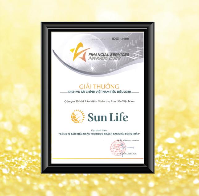 Sun Life Việt Nam nhận giải thưởng dịch vụ Tài chính Việt Nam tiêu biểu 2020 ảnh 1