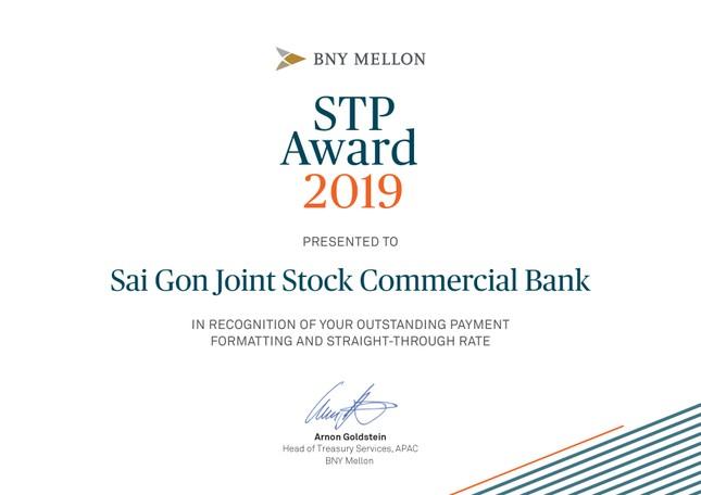 SCB vinh dự nhận giải thưởng STP Award của Bank Of New York Mellon ảnh 1