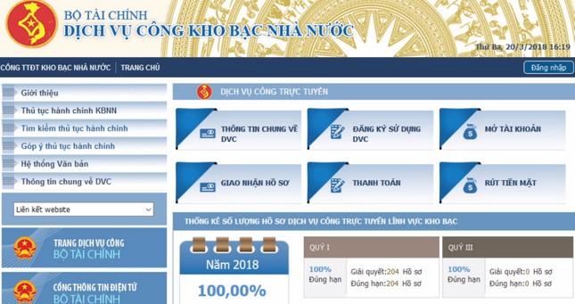 Kho bac Nhà nước đứng vị trí thứ hai trong bảng xếp hạng cải cách hành chính các đơn vị tr ảnh 2