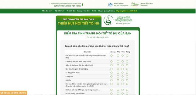 Lần đầu tiên ra mắt Ứng dụng kiểm tra nội tiết tố nữ tại Việt Nam ảnh 3