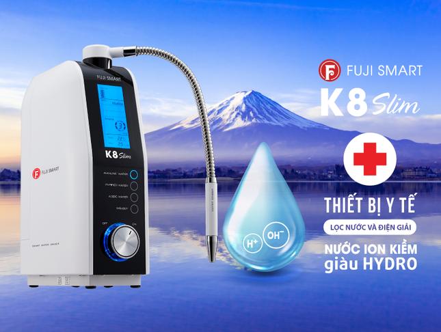 Fuji Smart K8 Slim thiết bị y tế tạo nước ion kiềm giàu Hydrogen phân khúc giá rẻ ảnh 1