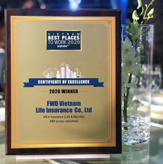 FWD được bình chọn Top 3 nơi làm việc tốt nhất ngành bảo hiểm ảnh 2