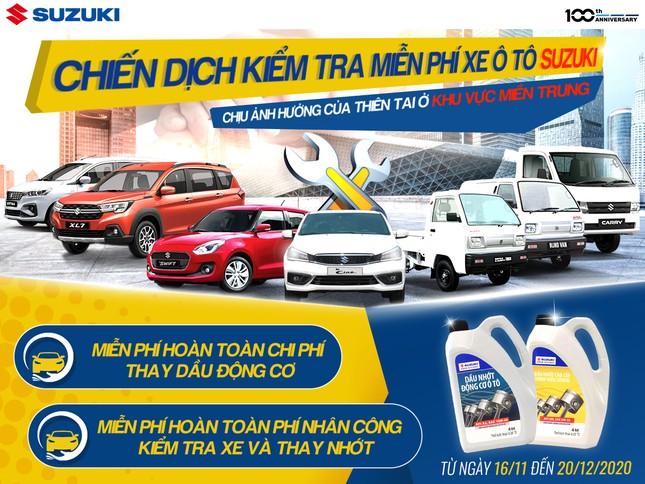 Đồng hành cùng miền Trung, Suzuki kiểm tra xe và thay dầu động cơ miễn phí ảnh 1