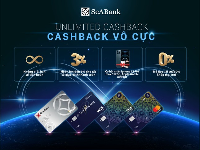 Hoàn tiền không giới hạn với thẻ quốc tế Seabank ảnh 2
