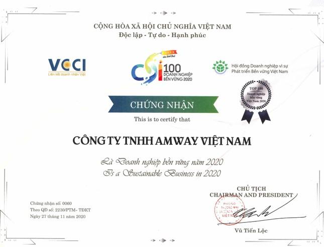 Amway Việt Nam 5 năm liên tục trong bảng xếp hạng Top 100 doanh nghiệp PTBV ảnh 2