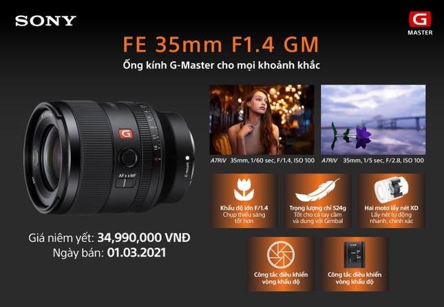 Sony ra mắt ống kính Full-Frame FE 35MM F1.4 GM mang đến chất lượng hình ảnh vượt trội ảnh 1