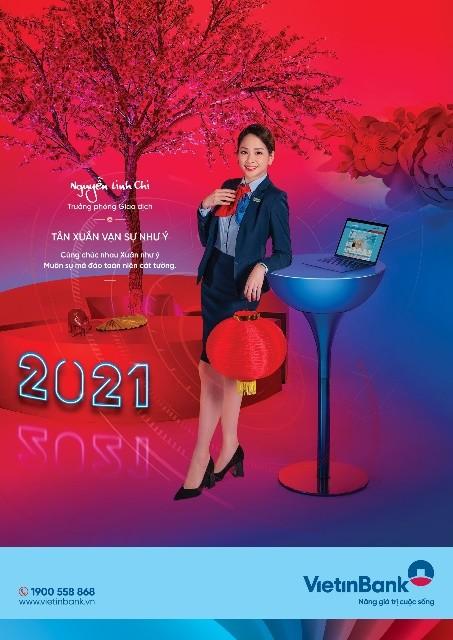 Bộ ảnh mừng Xuân Tân Sửu của cán bộ, nhân viên VietinBank ảnh 3