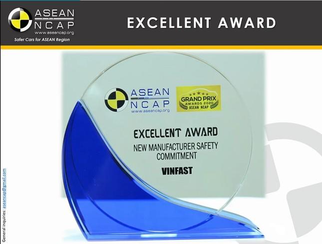 Vinfast đoạt giải ' Hãng xe có cam kết cao về an toàn' Asean Ncap ảnh 3