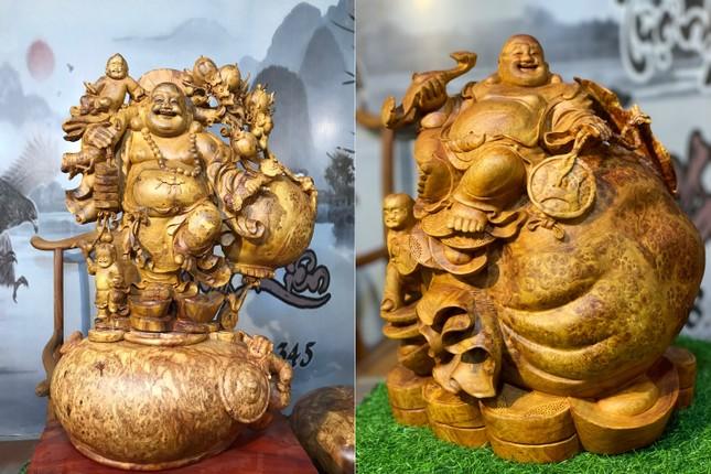 Tượng gỗ phong thủy tại cơ sở sản xuất Tượng gỗ Trung Kiên vừa mang giá trị trong đời sống và kinh doanh ảnh 1