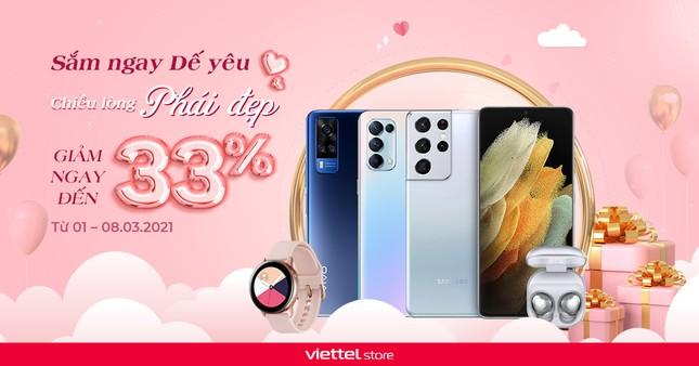 Chào mừng ngày 8/3: Smartphone, Phụ kiện... đồng loạt giảm giá sâu tại Viettel Store ảnh 1