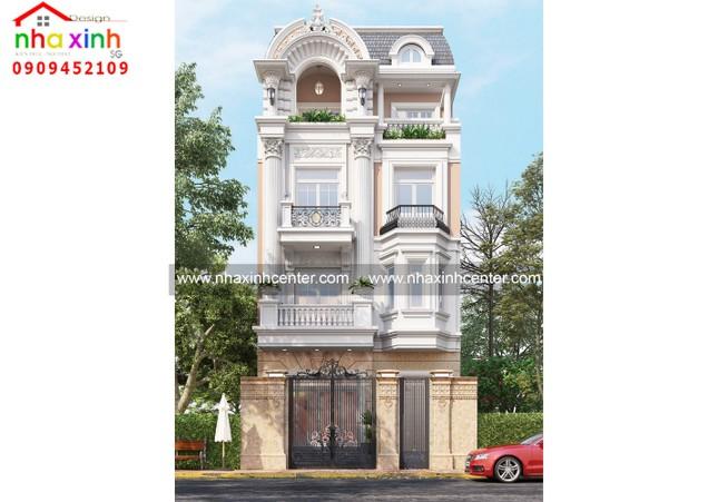 Top những mẫu thiết kế nhà phố cổ điển đẹp ảnh 1