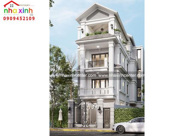 Top những mẫu thiết kế nhà phố cổ điển đẹp ảnh 3