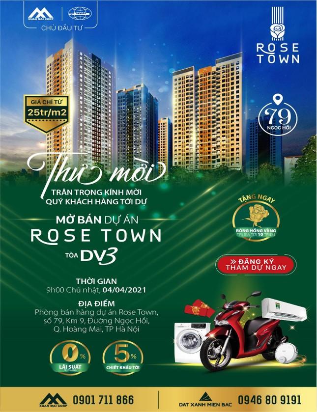 Mua căn hộ Rose Town, cơ hội được nhận xe SH ảnh 3