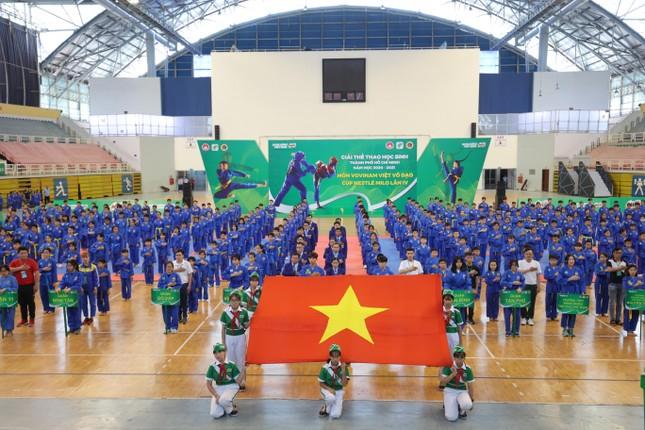 Hơn 1.500 học sinh tham gia Giải Hội khỏe Phù Đổng môn Vovinam Việt Võ Đạo ảnh 1