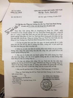 Tổng cục Thuế lên tiếng vụ '2h chiều Cục Thuế Bình Dương vẫn chưa hoạt động' ảnh 2