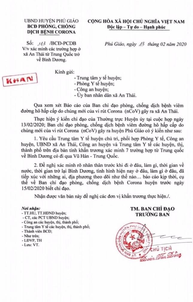 Công an nói gì vụ 7 người nghi từ vùng dịch Trung Quốc về Bình Dương? ảnh 1