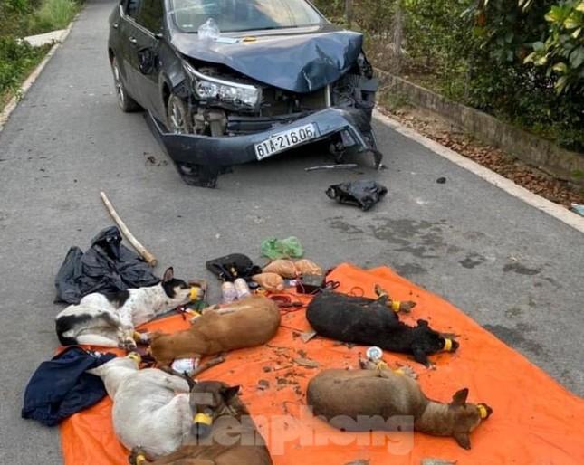 Trộm chó lái ô tô lao thẳng vào tổ tuần tra chốt chặn ảnh 1