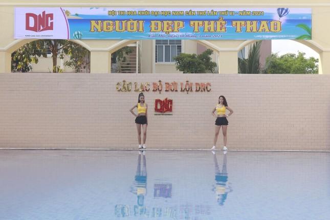 Dàn thí sinh Hoa khôi ĐH Nam Cần Thơ khoe sắc với trang phục thể thao ảnh 3