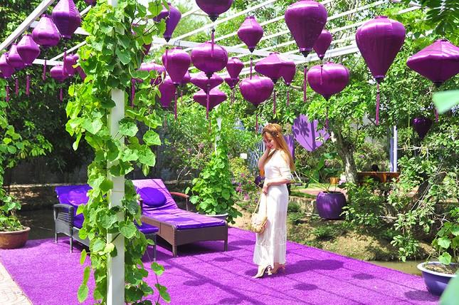 Căn nhà màu tím độc đáo ở Cần Thơ hút khách đến 'check-in' ảnh 12