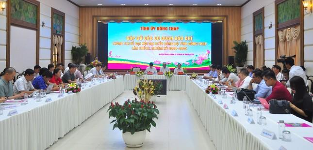 Ông Lê Minh Hoan vẫn điều hành Đại hội Đảng bộ tỉnh Đồng Tháp ảnh 1
