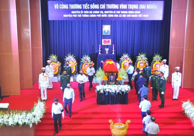 Xúc động dòng sổ tang tiễn biệt nguyên Phó Thủ tướng Trương Vĩnh Trọng ảnh 6